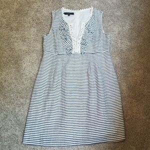 Adorable blue and white striped dress